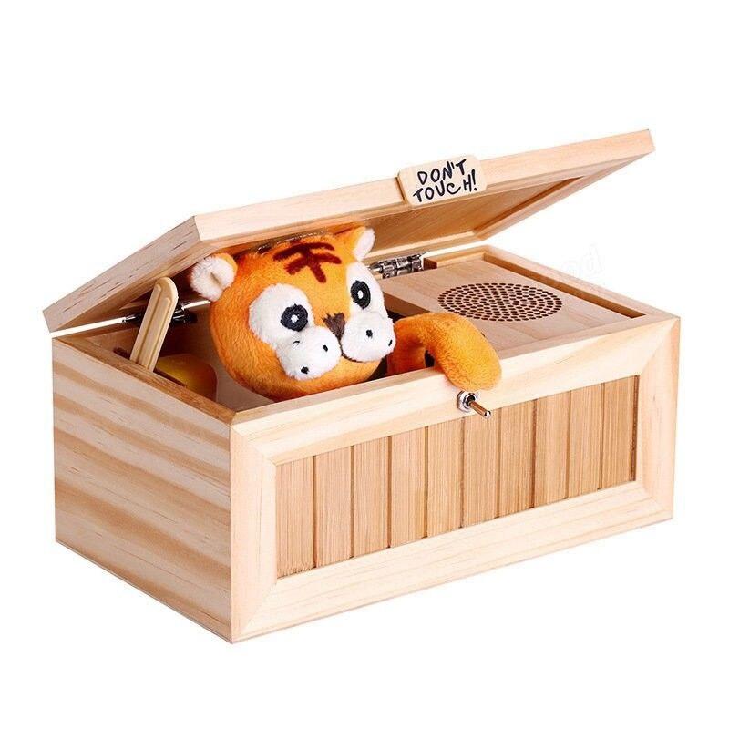 Caja de juguetes inservible, nuevo tigre electrónico de madera, juguete para regalo divertido para niños y chicos, juguetes interactivos, decoración de escritorio con reducción de estrés