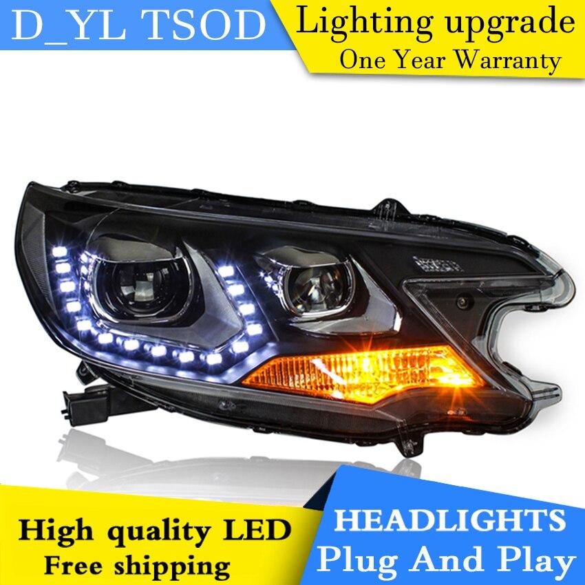 Faros delanteros de diseño para coche para Honda C-RV 2012-2013 faro LED para lámpara de cabeza CRV luz LED de conducción diurna LED DRL bi-xenon HID