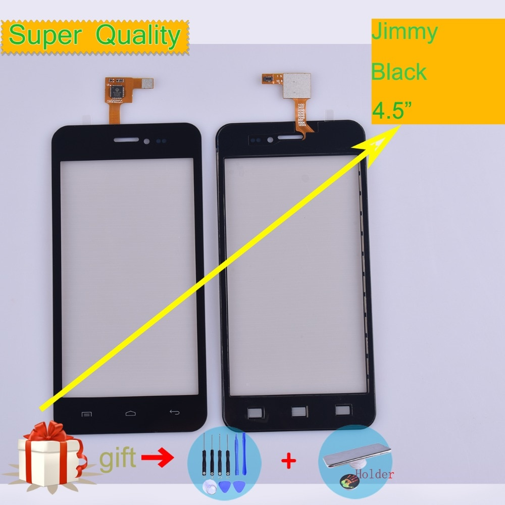 For Wiko Jimmy Touch Screen Panel Sensor Digitizer Front Outer Glass Touchscreen Jimmy Touch Panel Black Replacement недорого