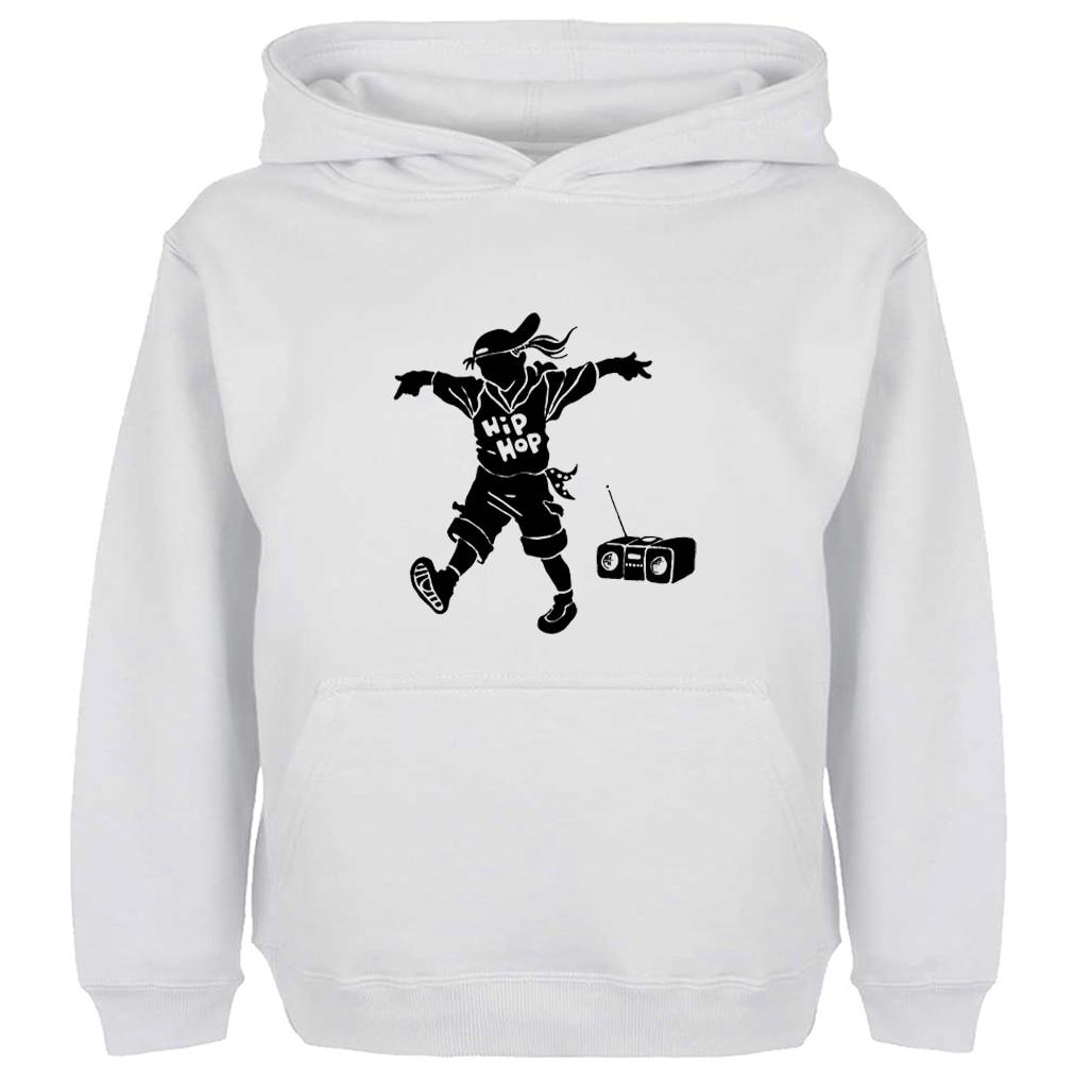 Funny Retro Hip Hop Boy Listen to the Radio Hoodie Men Women Boy Girl Cotton Sweatshirt Spring Autumn Winter Jackets Hoody Tops