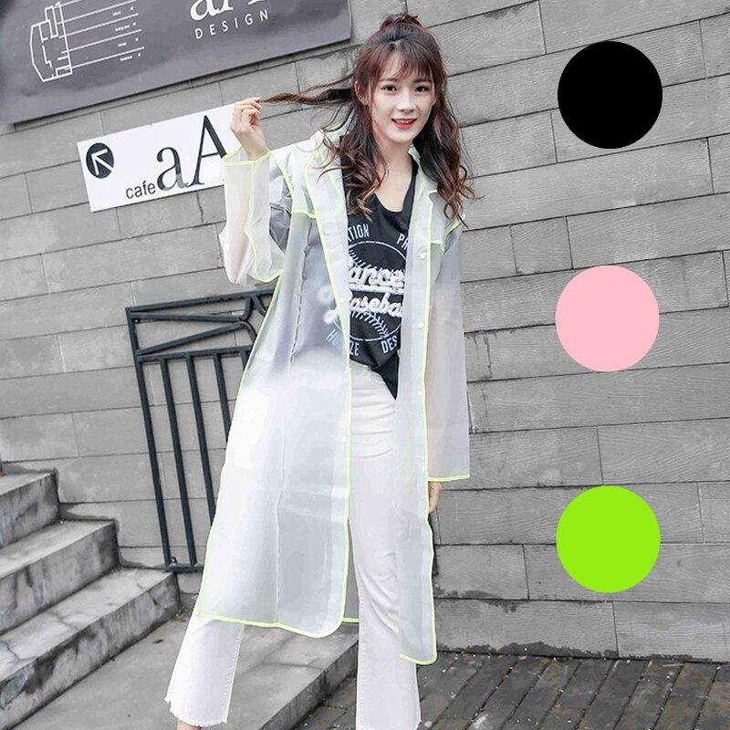 Fashion Long Transparent Single Raincoat New Fashion Hooded Outdoor Wedding party Travel eva Adult Rainwear for Women and Men