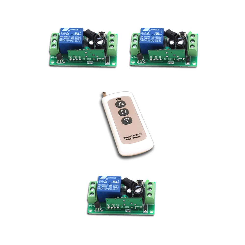 Low Price RF Wireless Remote Control Switch 1Channal Intelligent Family System 3XReceiver+1XWaterproof Transmitter with 3Buttons