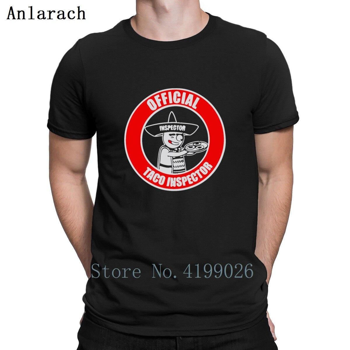 Taco Inspector mexicano camisetas Tops personalizado marca Super hombres Camiseta básica sólido ocio primavera algodón Simple