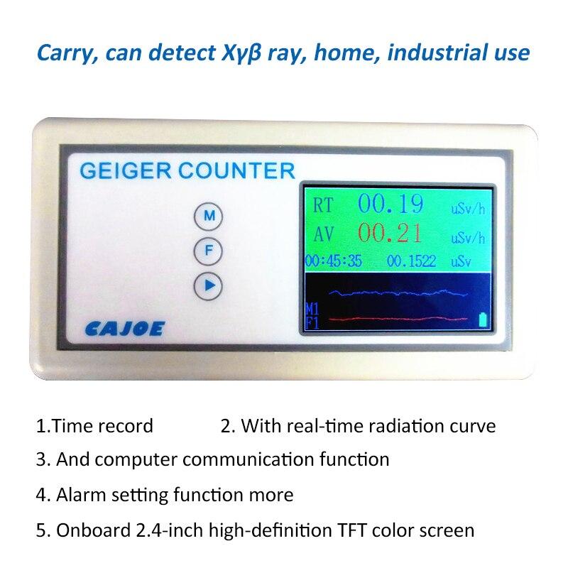 كاشف الإشعاع النووي, كاشف الإشعاع النووي مقياس الجرعات مع شاشة عرض عدادات جيجر الإشعاع أشعة جاما بيتا