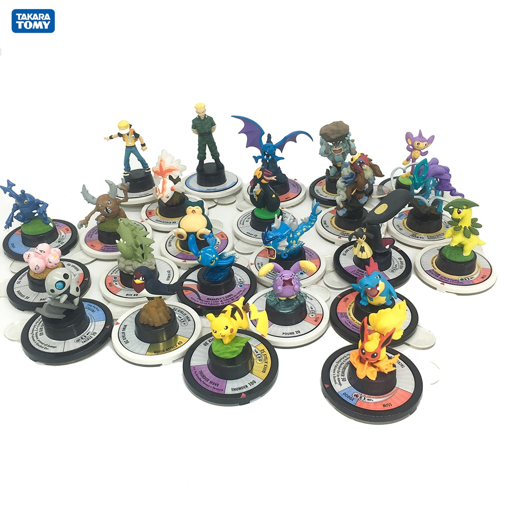 Japan Anime Figure Takara Tomy Toy Pokemon Monster Collectible Action Figures War Chess Board Game Model for Children