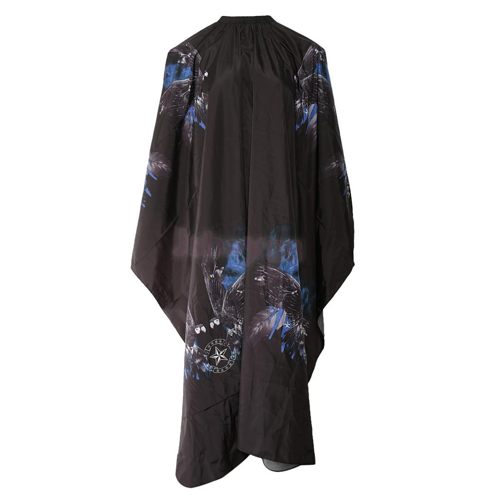 Impermeable estiloso salón corte de pelo capa de peluquería vestido delantal negro