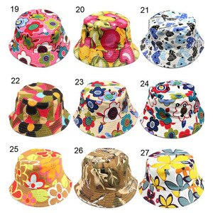 2016 New 30 colors Children flower bucket hat temperament leisure sunny child sun hat for 2-6 years old kids