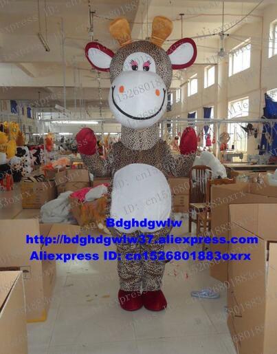 Traje de personaje de dibujos para adultos giraffita Mascot Costume, traje, cinta de corte, recuerdo conmemorativo zx2860