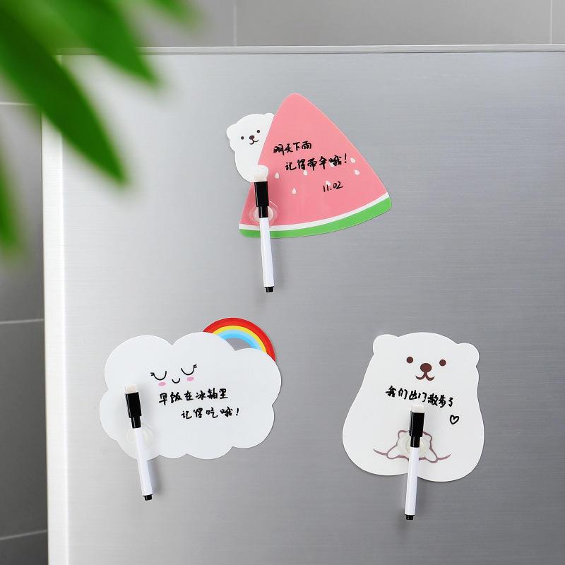 1 Set Nette Wiederbeschreibbare Nachricht Board Mit Stift Paste Kühlschrank Sticky Notes Wall Kühlschrank Dekorative Nachricht Aufkleber Wohnkultur