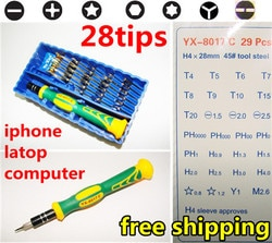 Precision Multi - função Electron Torx chave de fenda Phillips ferramenta 28 em 1 para iphone, Laptop imac reparo ferramenta