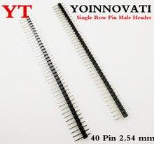 40 broches en-tête bande prise 2.54mm droite simple rangée broche mâle PCB bouclier bricolage
