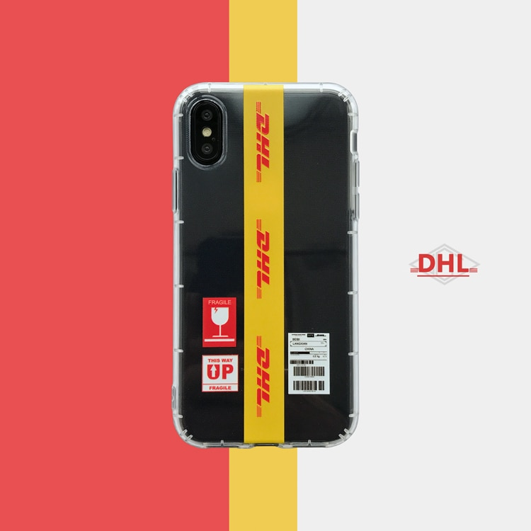 Claro suave Dhl funda para Iphone 11 PRO X Xs Max Xr 8 7 6 6s Plus funda del teléfono del silicona de alta calidad 3d relieve moda Coque Fundas