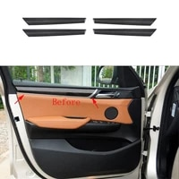 4x 100 real carbon fiber inner door panel strip cover trim for bmw x3 f25 2015 2017 x4 f26 2015 2017
