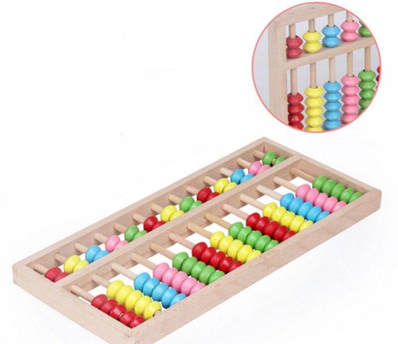 Nuevo juguete de madera de gran tamaño Montessori, juguete para bebé, Ábaco de haya, enseñanza, aprendizaje, educación preescolar, entrenamiento, envío gratis