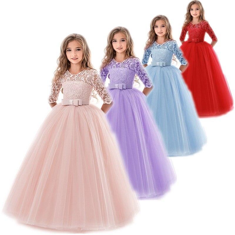 Vestido de princesa para meninas, vestido de princesa para adolescentes, festa de casamento, roupas infantis para meninas 10 11 12 13, novo, 2019 14 anos