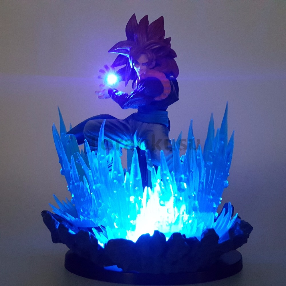 Dragon Ball Z Action-figuren Goku Super Saiyan 4 Led-leuchten Szene Anime Dragon Ball Super Goku Gohan Figur Modell spielzeug DBZ
