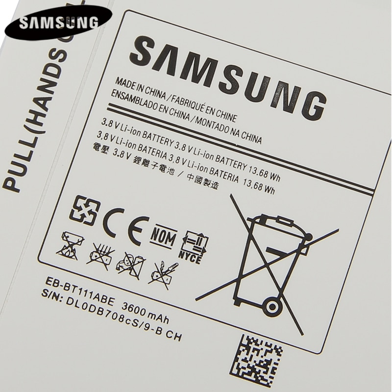 Original Tablet Battery EB-BT115ABC EB-BT116ABE For Samsung SM-T110 SM-T116 SM-T111 T115 EB-BT111ABE Authentic Battery 3600mAh enlarge