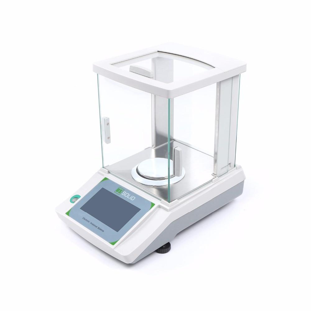 Estados Unidos sólido 120x0,0001g 0,1 mg balanza analítica de laboratorio electrónico Digital precisa Balanza De peso certificado CE pantalla táctil