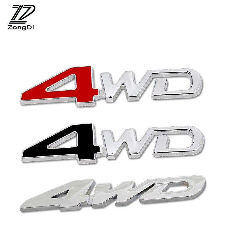 ZD 1Pc del coche 3D de Metal 4WD 4X4 para Audi a4 b6 a6 c5 protector antipolvo para Renault megane 2 Chevrolet cruze aveo Ford focus 2 3