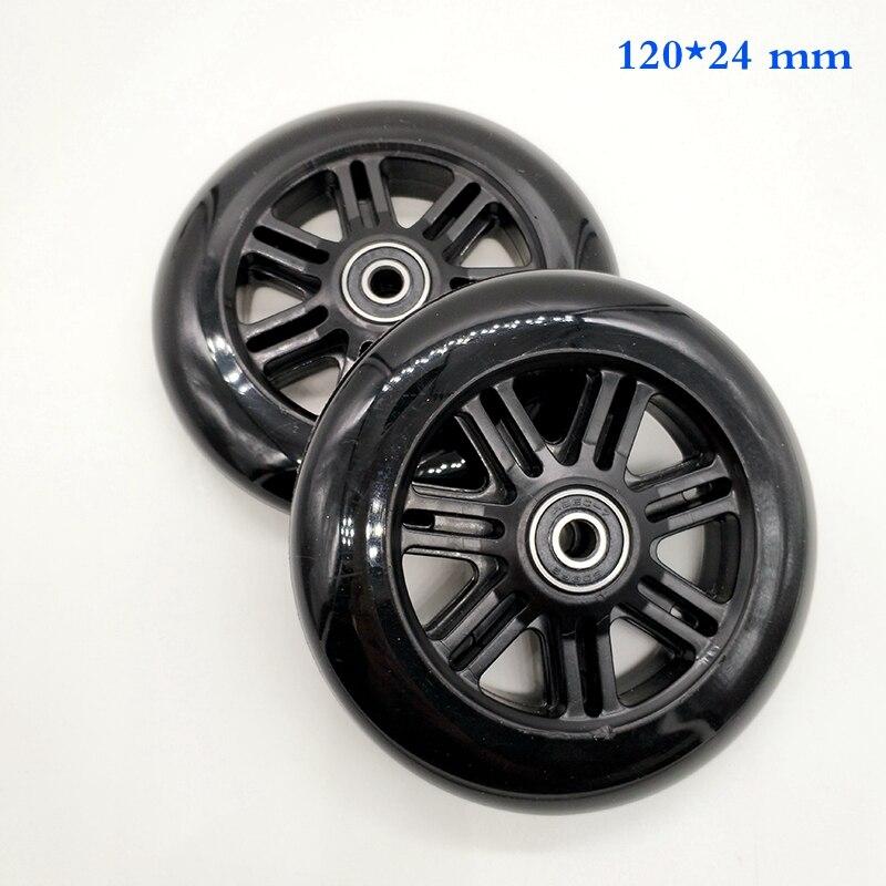 Rueda de patinete, envío gratis, rueda de PU de 120x24mm, ABEC-7 de rodamiento de buena calidad abec-9