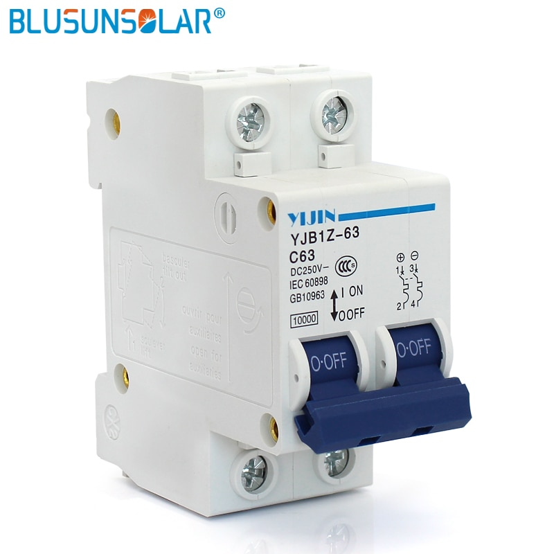 CE aprobado Mini disyuntor MCB 2P 63A 250V para casa usando disyuntor eléctrico