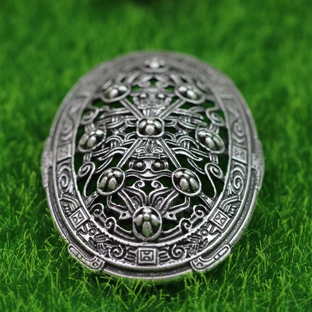 LANGHONG 1pcs Legendry Nordic Viking Brooch Amulet fibula Brooches Sweden Scandinavian Viking brosch jewelry Talisman