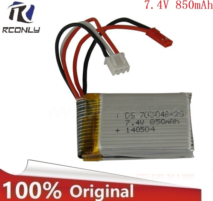7.4 v 850 mah lipo bateria para udi u829a u829x mjxrc x600 hengqi 907 avião de controle remoto 7.4 v 850 mah 703048 2s lipo bateria