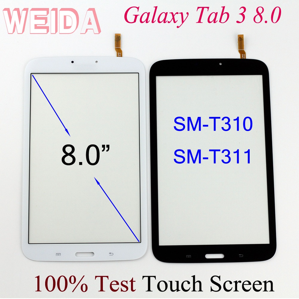 9h 2 5d tempered glass for samsung galaxy tab 3 t310 t311 8 screen protect clear cover for sm t310 sm t311 protector film 0 3mm WEIDA Touch Digitizer 8 For Samsung Galaxy Tab 3 8.0 SM-T310 SM-T311 Touch Screen Without LCD