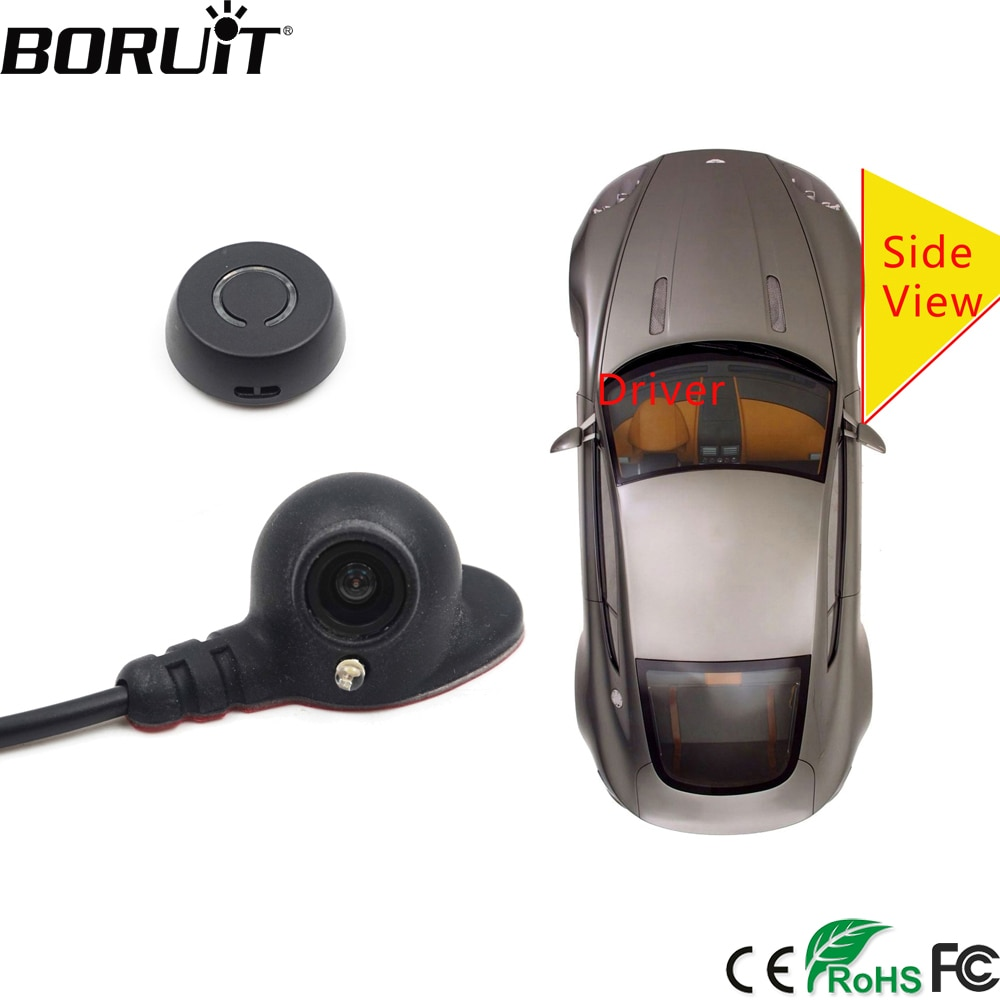 BORUiT Auto Rechts Blind Spot System Kamera Auto Parkplatz System Seite Rückansicht Kamera Mini Zwei Video Automatische Switch Control