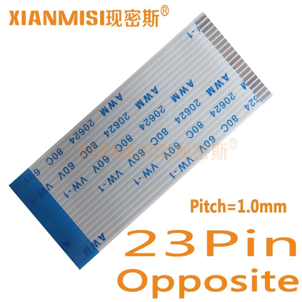 23Pin Lado Oposto 1.0mm Pitch Cabo Liso Flexível FFC AWM 20624 80C 60 V Comprimento 40 cm 45 cm 50 cm 60 cm 80 cm 1 M 2 M 1.5 M 3 M 5 PCS