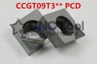 Free shipping 2PCS Diamond PCD CCGT09T302/CCGT09T304/CCGT09T308 Continue Interrupt Finish Turning Milling Cutting Tools