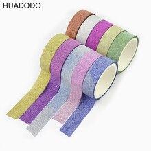 HUADODO-bandes paillettes mates   10 rouleaux, bande Scrapbook en papier, pour artisanat de décoration, emballage cadeau pour enfants, vente en gros