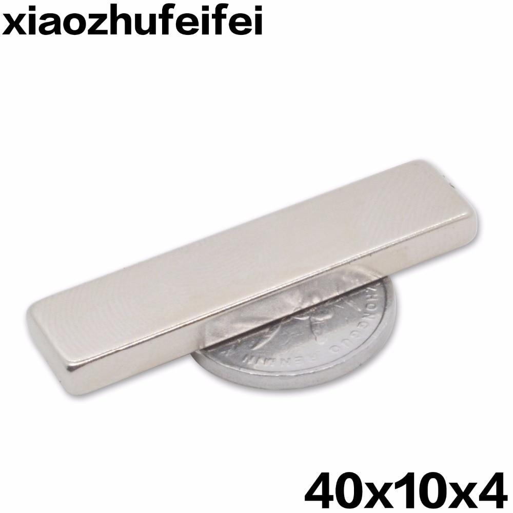 1pcs Super Strong 40 x 10 x 4 mm Block Bar Magnets Rare Earth Neodymium N35 Permanent magnet 40*10*4 Square magnet 40x10x4mm