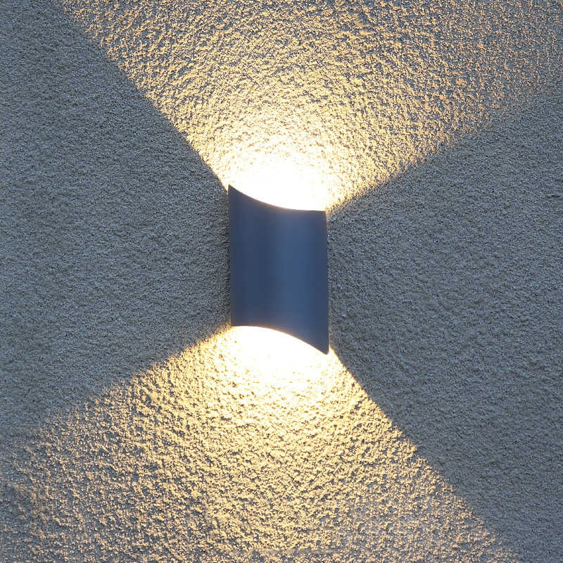 IP54 lámparas de pared al aire libre impermeables negro/gris a prueba de polvo balcón pared aplique Residencial villa eclairage exterieur