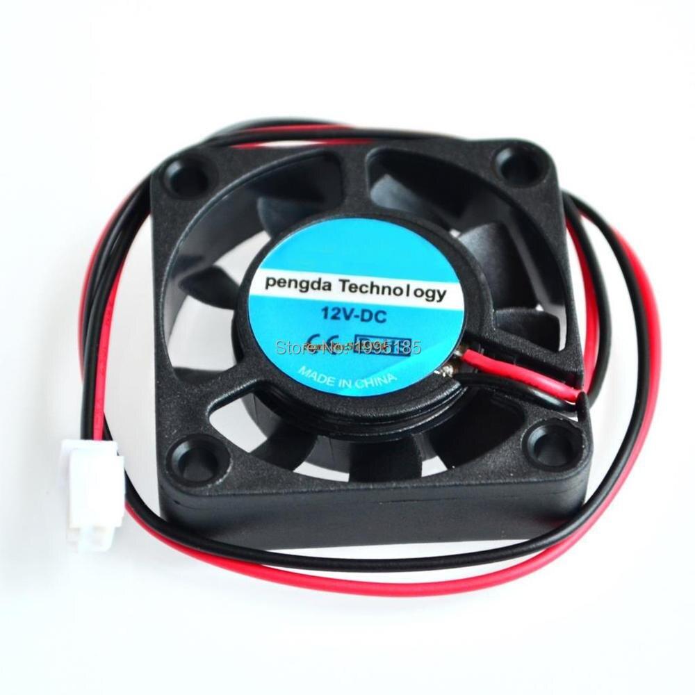 Mini ventilador de refrigeración DC 12V 2Pin 40MM 4CM 4010 40x40x10mm pequeño ventilador de escape para impresora 3D