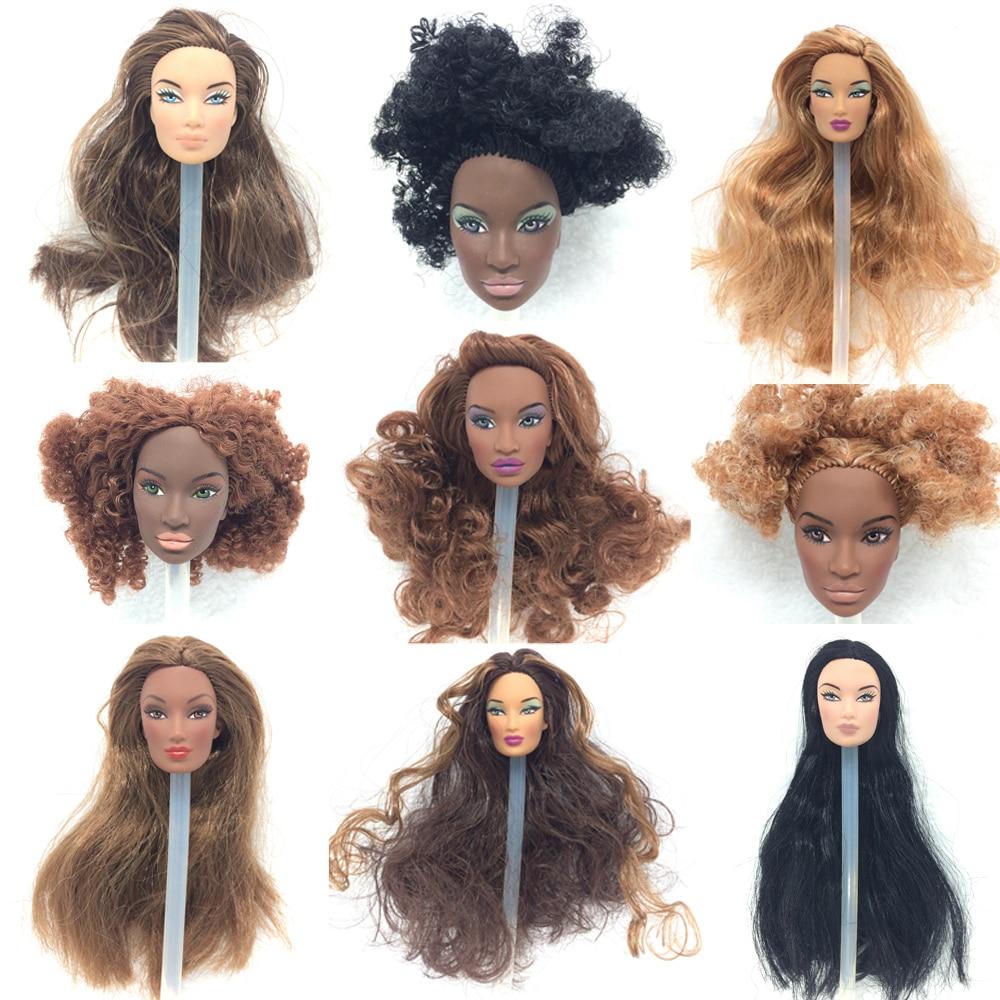 NK 3 juegos al azar, muñeca Original de moda de realeza, cabeza de muñeca de pelo integral para muñecas FR 2002, Colección de Edición limitada