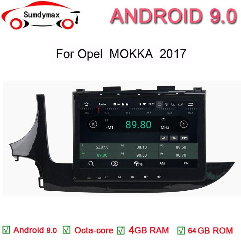 9 pulgadas octa core android 9,0 reproductor de dvd del coche para opel mokka 2017 con DDR3 PX5 4G con 64G ROM gps audio estéreo radio wifi
