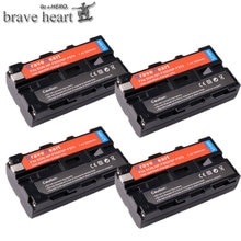 Batterie Li-ion Rechargeable 3000mah NP-F550 NP F550 NPF550 pour Sony NP-F330 NP-F530 NP-F570 NP-F730 NP-F750 Hi-8