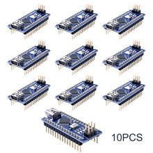 10 pièces Nano 3.0 ATmega328P Controlador Compatible Con Pour Arduino NANO CH340 Turno USB Controlador CÂBLE V3.0 NANO