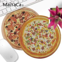 MaiYaCa en existencia carne Pizza pequeño ratón redondo PC ordenador mat ordenador portátil para jugador hogar y oficina escritorio Gming Mouse pad