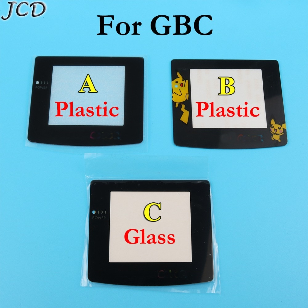 JCD protector de lente de vidrio para pantalla de plástico de alta calidad para GameBoy Color para GBC