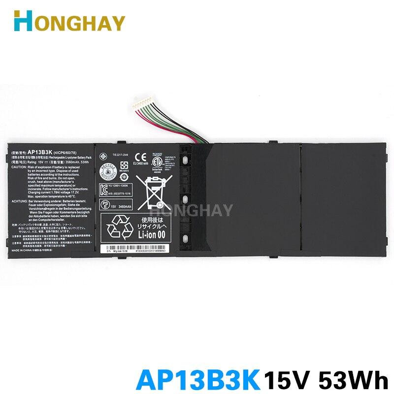 Honghay AP13B3K Аккумулятор для ноутбука Acer Aspire V5 R7 V5-572G V5-573G V5-472G V5-473G V5-552G M5-583P V5-572P AP13B8K