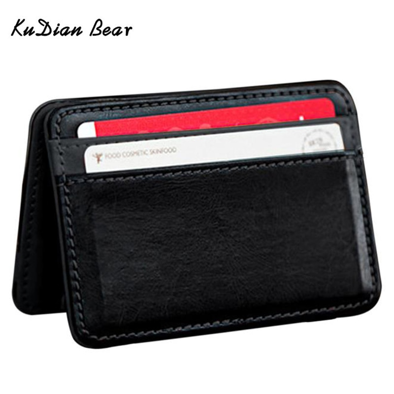 Мужской кошелек KUDIAN BEAR, с клипсой для денег, Rfid, тонкий органайзер для карт, Magic i Clip carteras, Minimalista-BID015 PM49