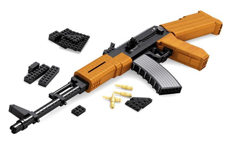 617 pçs novas armas militares assalto rifle ak47 modelo blocos de construção brinquedos tijolos educativos diy melhor presente para as crianças