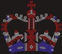 2pclot royal crown rhinestones hot fix rhinestone applique hot fix rhinestone transfer motifs designs iron on transfer