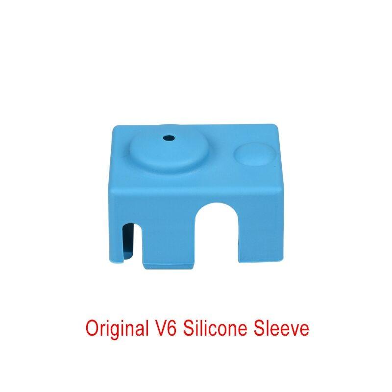 1 ud. De calcetines de silicona V6 que se ajustan al Original bloque de aislamiento de silicona del calentador Reprap V6 para piezas de impresora 3D