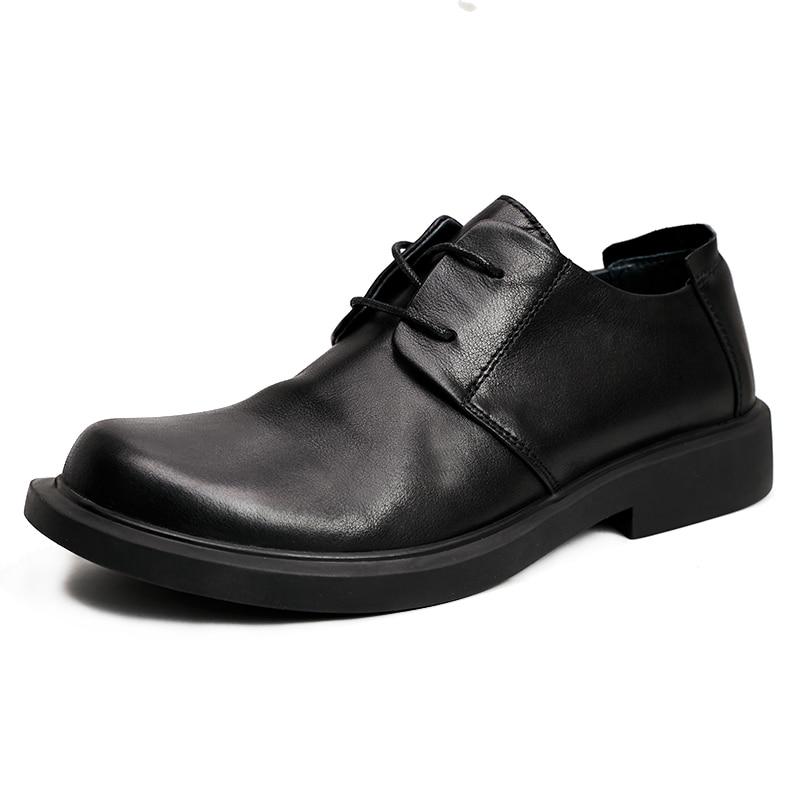Leisure Shoes mens Genuine leather cowhide mens luxury shoes men designer shoes casual Business Men Dress Shoes spring autum