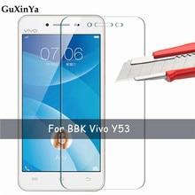 2 pièces verre trempé Vivo Y53 verre protecteur décran pour Vivo Y53 anti-rayures 9 H verre BBK Vivo Y53 2017 Film de téléphone 5.0