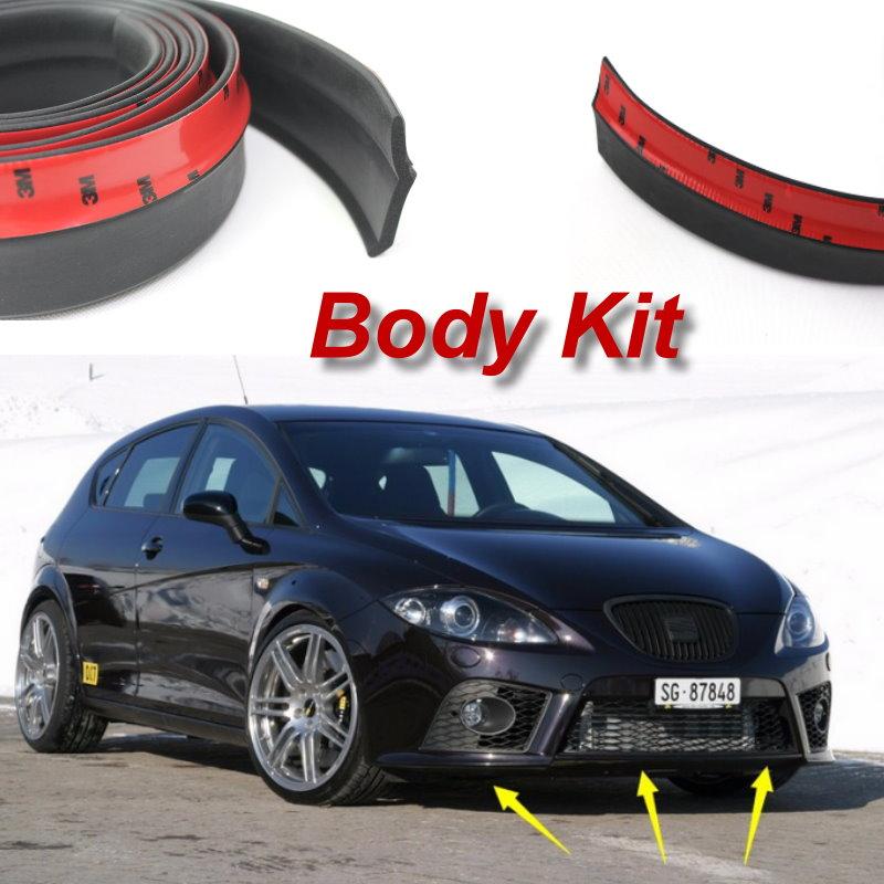 Lyudmila For SEAT Leon 1M 1P 5F / Bumper Lip Make car lower Body Kit / Front Rear Skirt Spoiler / Bumper Deflector Rubber Strip