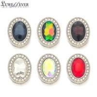 fashion flower w305 crystal 3d 18mm metal snap button for bracelet necklace interchangeable jewelry women accessorie findings